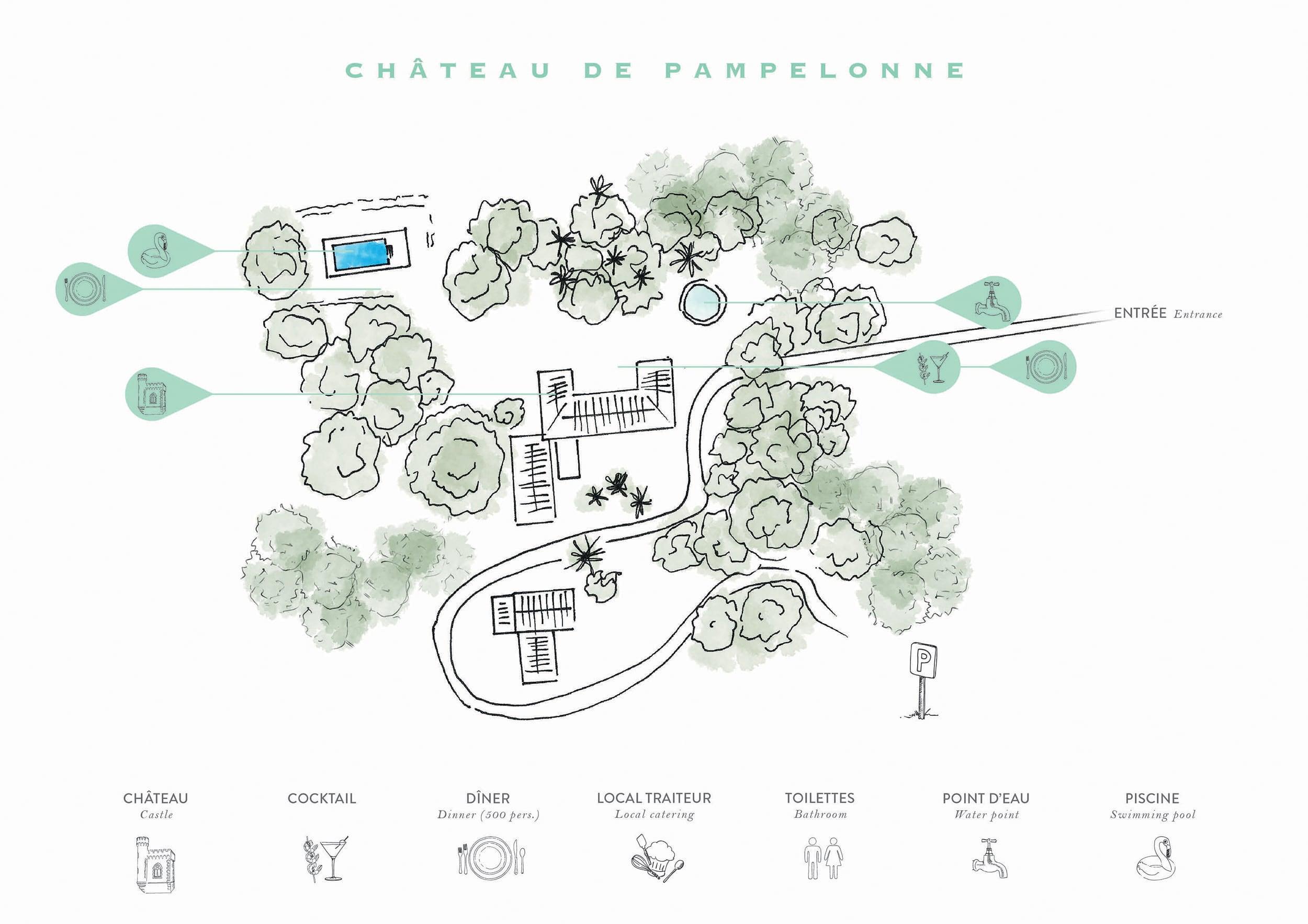 Plan Ou Photo Pool House Pour Piscine the château de pampelonne - receptions and roland paix venue